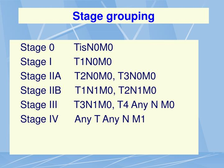 Stage grouping