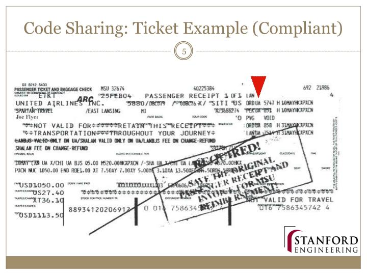 Code Sharing: Ticket Example (Compliant)
