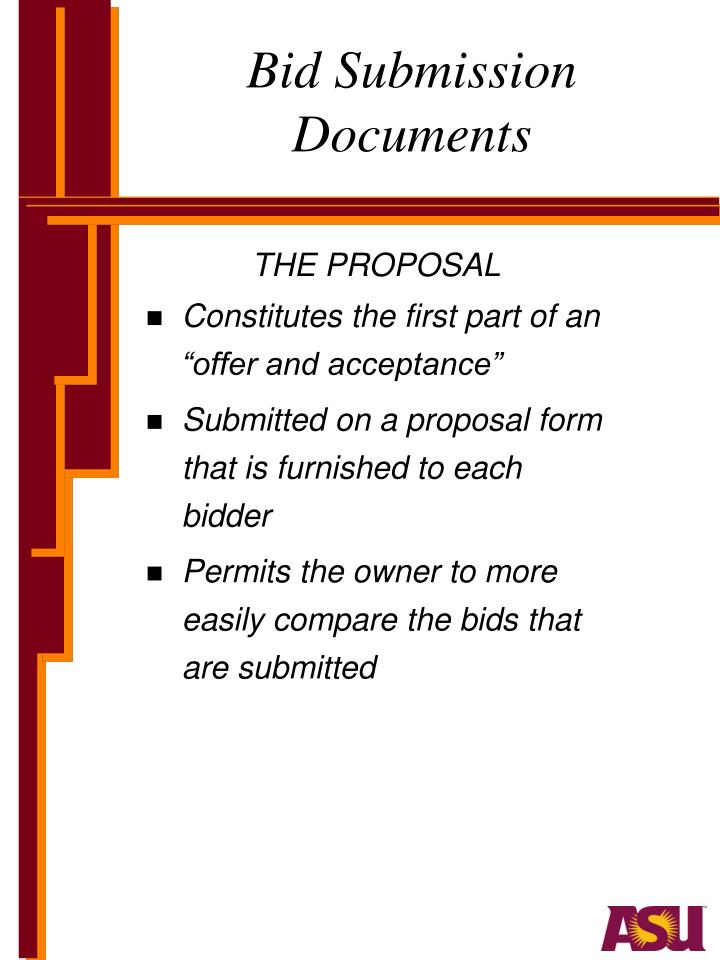 Bid submission documents1
