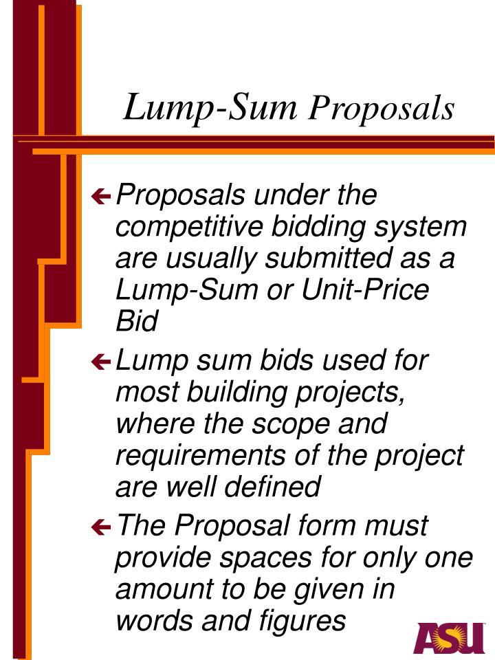 Lump-Sum