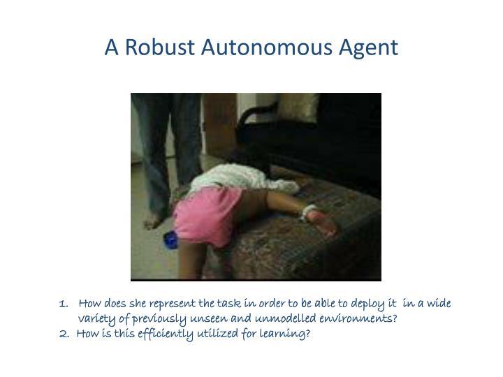 A Robust Autonomous Agent