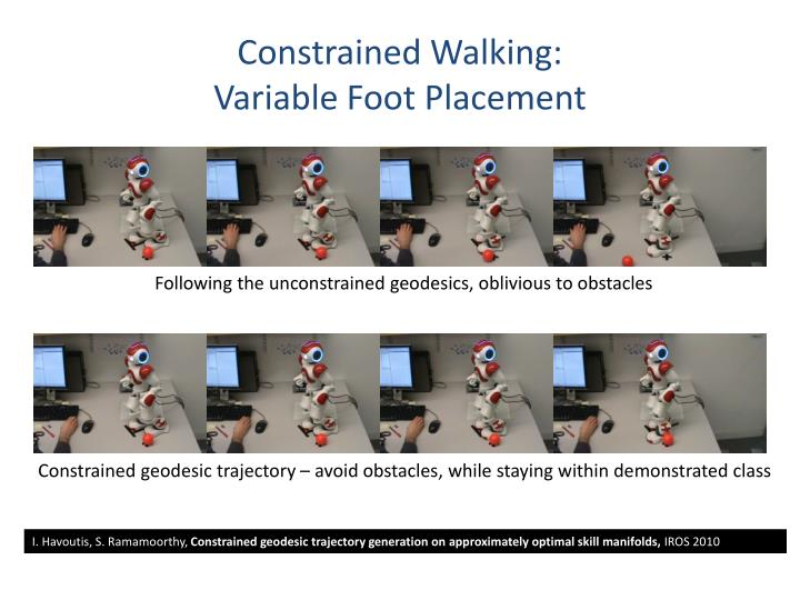 Constrained Walking:
