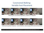 constrained walking variable foot placement