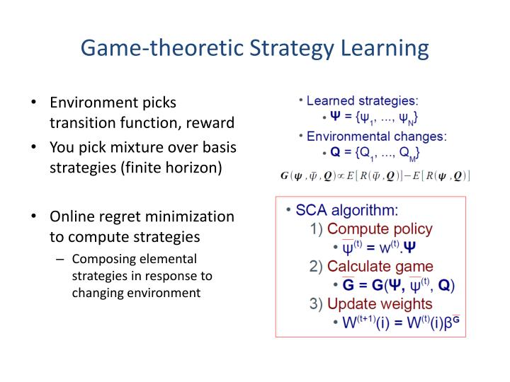 Game-theoretic Strategy Learning