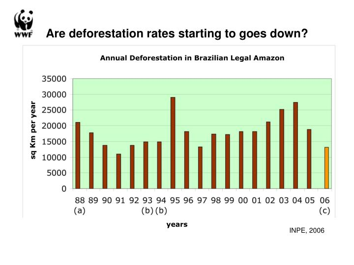 Are deforestation rates starting to goes down?