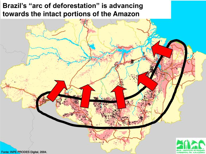 "Brazil's ""arc of deforestation"" is advancing"
