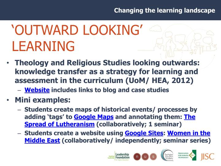 'OUTWARD LOOKING' LEARNING