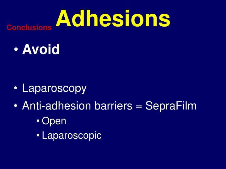 Adhesions
