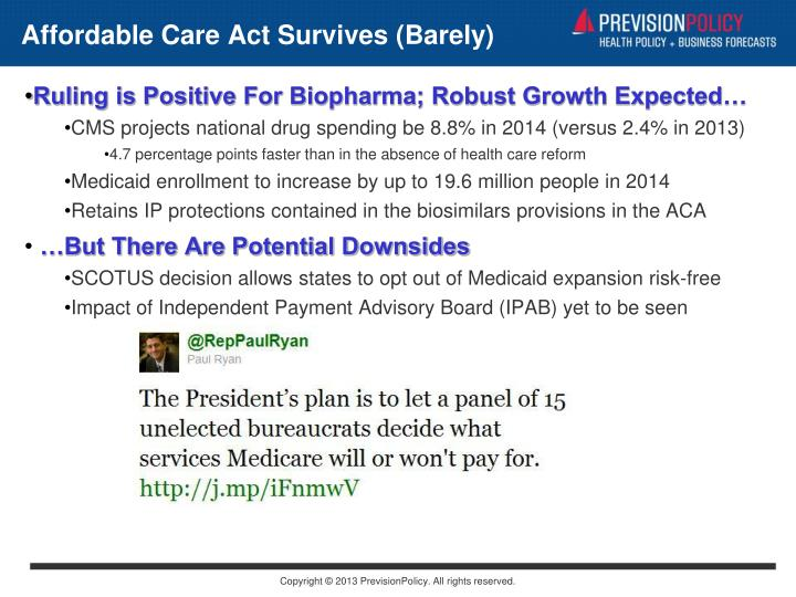 Affordable Care Act Survives (Barely)
