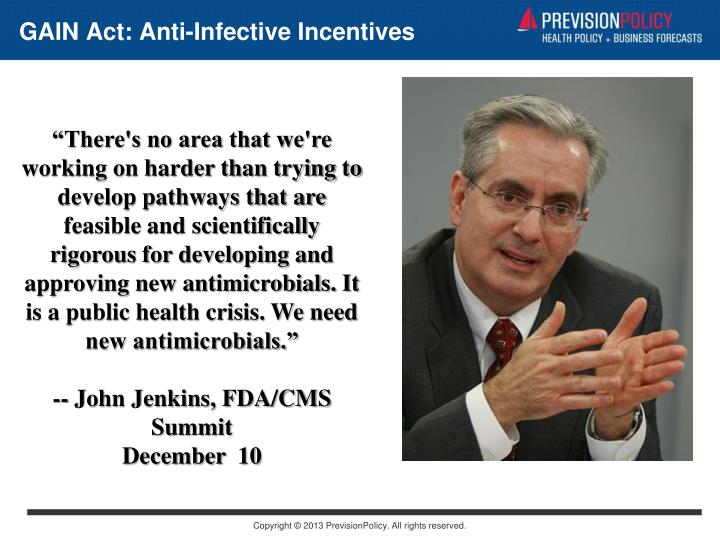 GAIN Act: Anti-Infective Incentives