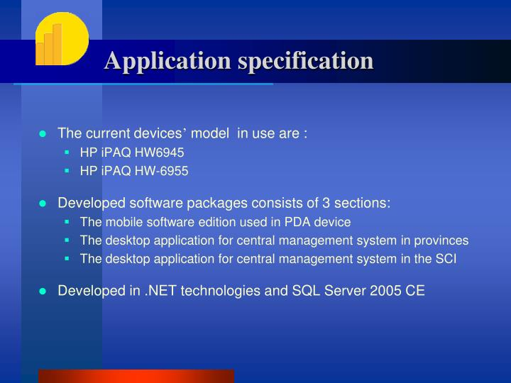 Application specification