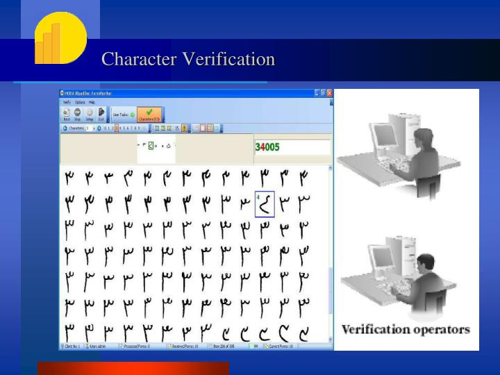 Character Verification