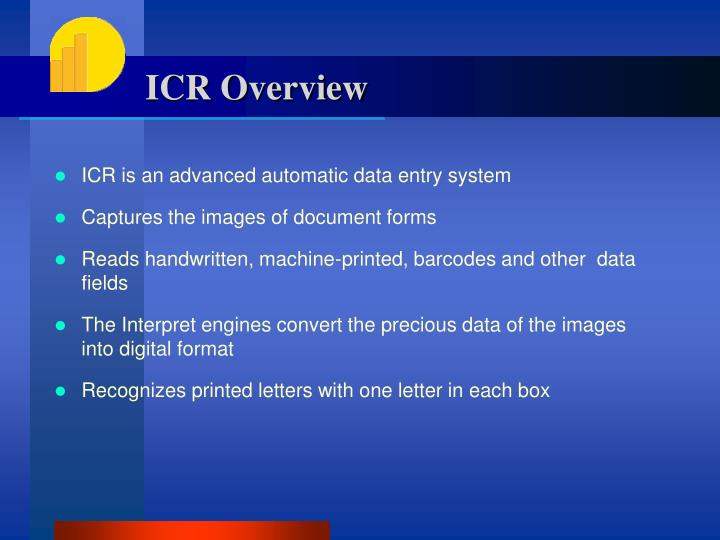 ICR Overview