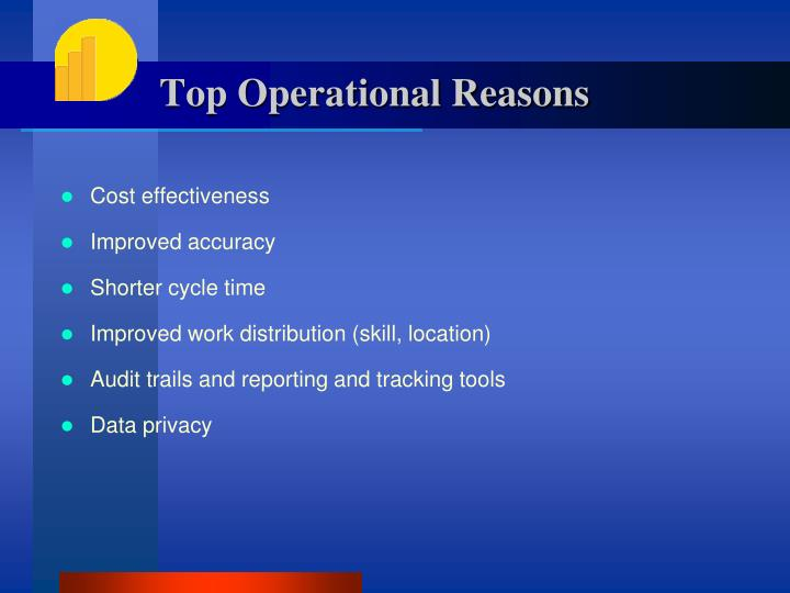 Top Operational Reasons