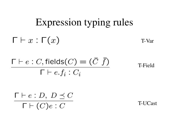 Expression typing rules
