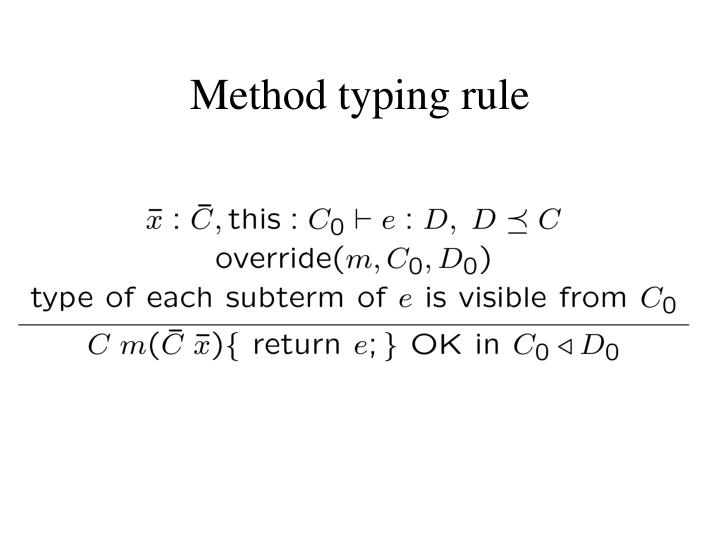 Method typing rule