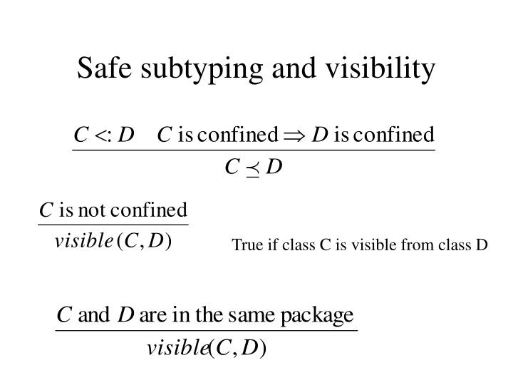 Safe subtyping and visibility
