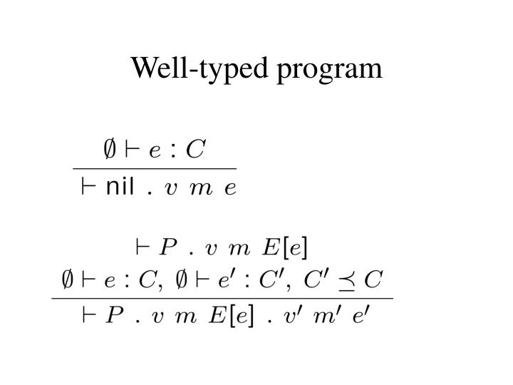 Well-typed program