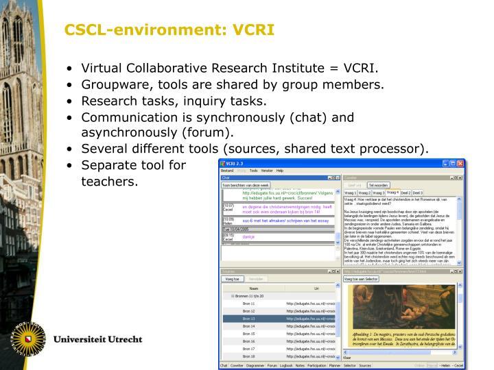CSCL-environment: VCRI