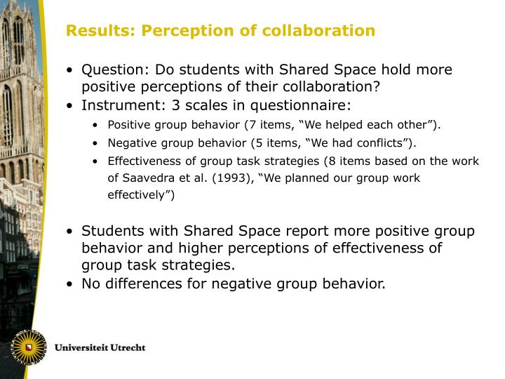 Results: Perception of collaboration