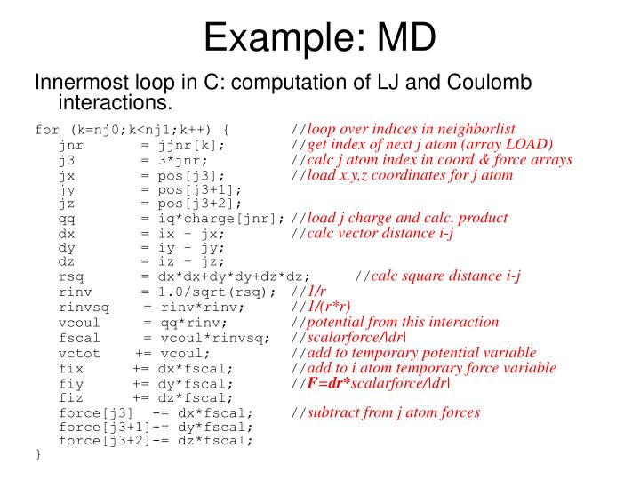 Example: MD