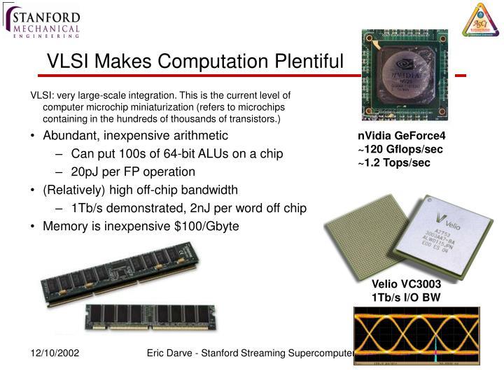 VLSI Makes Computation Plentiful