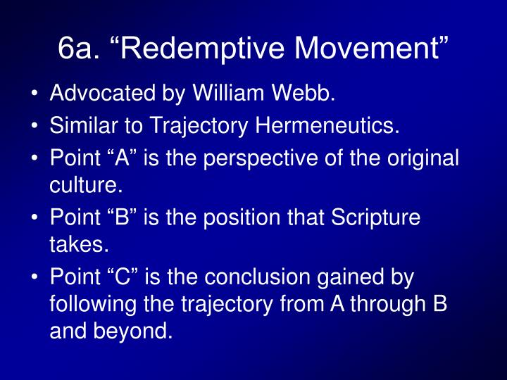 "6a. ""Redemptive Movement"""