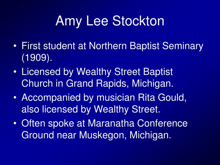 Amy Lee Stockton