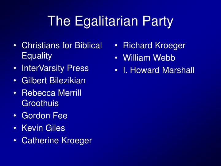 Christians for Biblical Equality