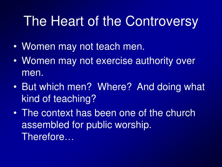 The Heart of the Controversy