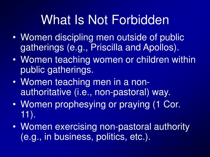 What Is Not Forbidden