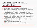 changes in bluetooth 1 2 specification