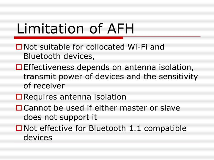 Limitation of AFH
