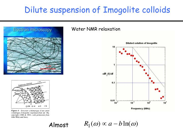 Water NMR relaxation