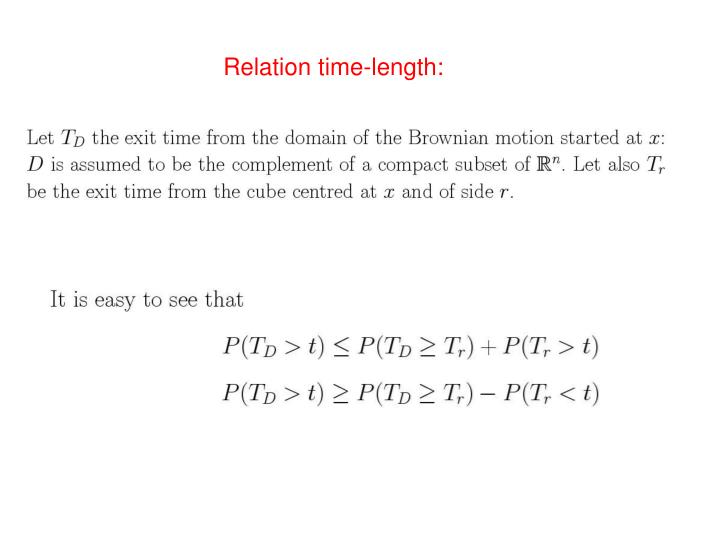 Relation time-length:
