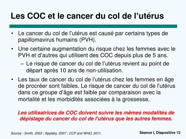 Les COC et le cancer du col de l