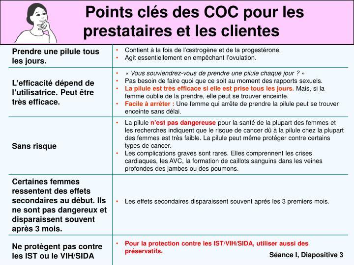Points clés des COC pour les