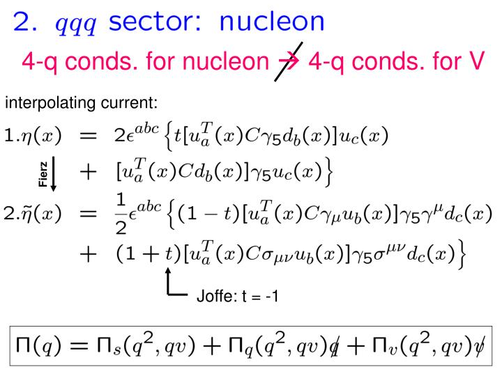 4-q conds. for nucleon