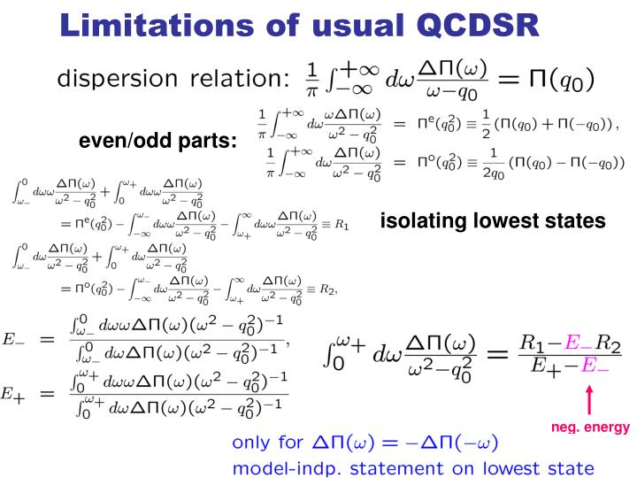 Limitations of usual QCDSR