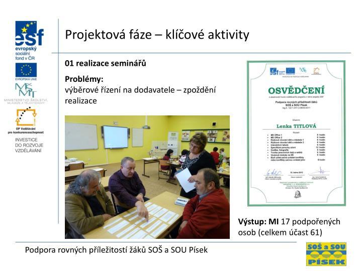 Projektov fze  klov aktivity