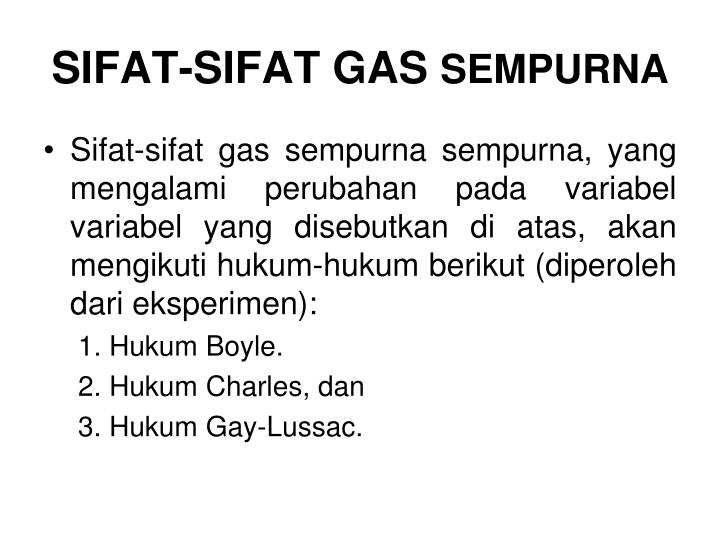 SIFAT-SIFAT GAS