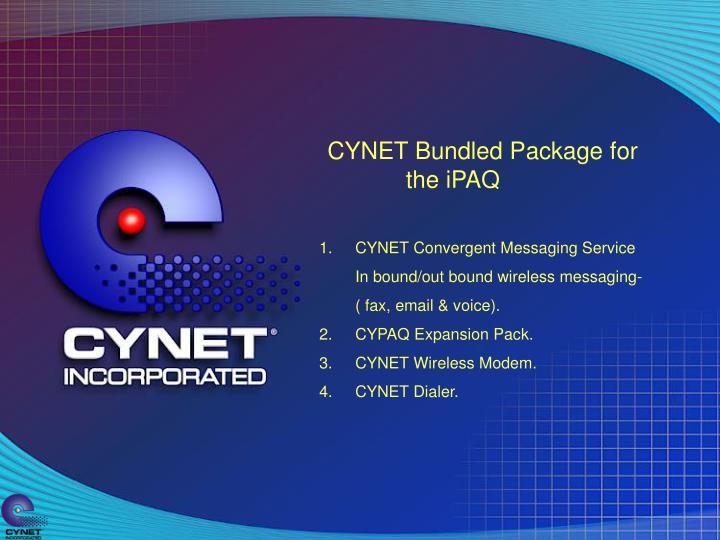 CYNET Bundled Package for the iPAQ
