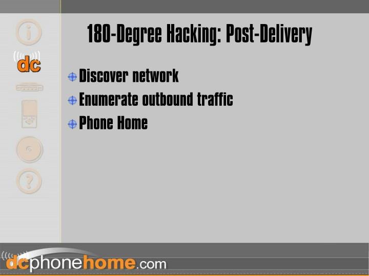 180-Degree Hacking: Post-Delivery