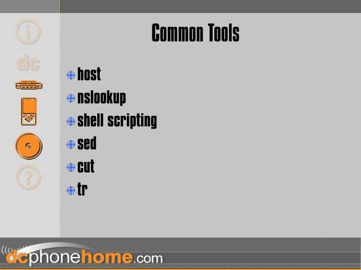 Common Tools