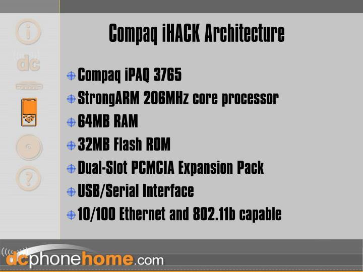 Compaq iHACK Architecture
