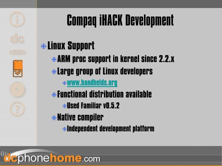 Compaq iHACK Development