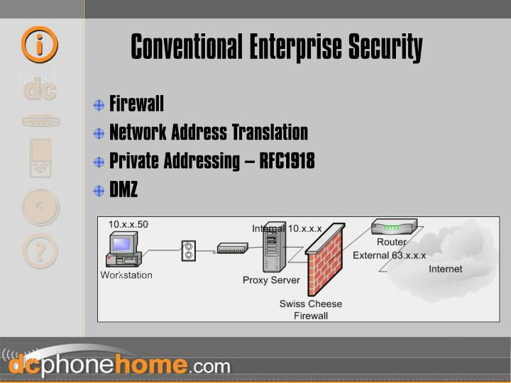 Conventional Enterprise Security