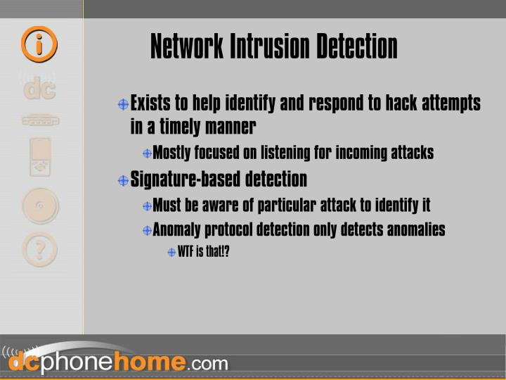 Network Intrusion Detection