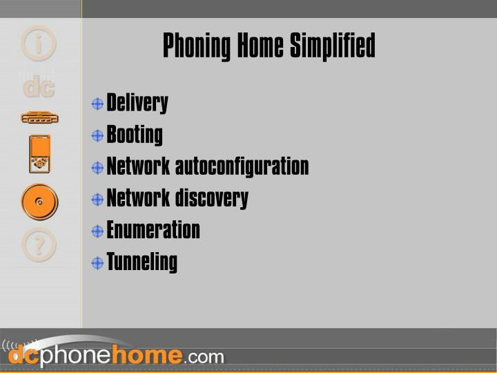 Phoning Home Simplified