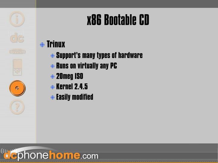 x86 Bootable CD